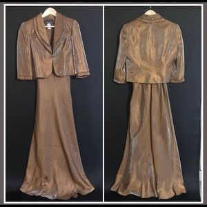 ALEX EVENING FORMAL DRESS AND JACKET Size 8P
